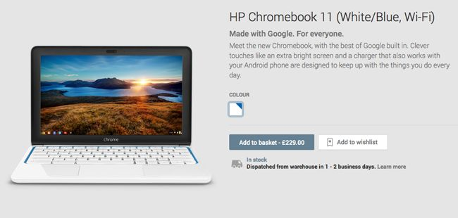 HP Chromebook 11 is back