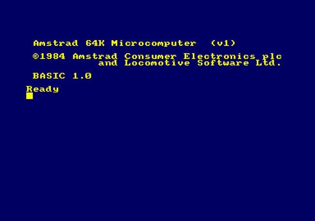 Amstrad CPC 464 start screen