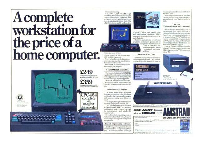 Amstrad CPC 464 ad