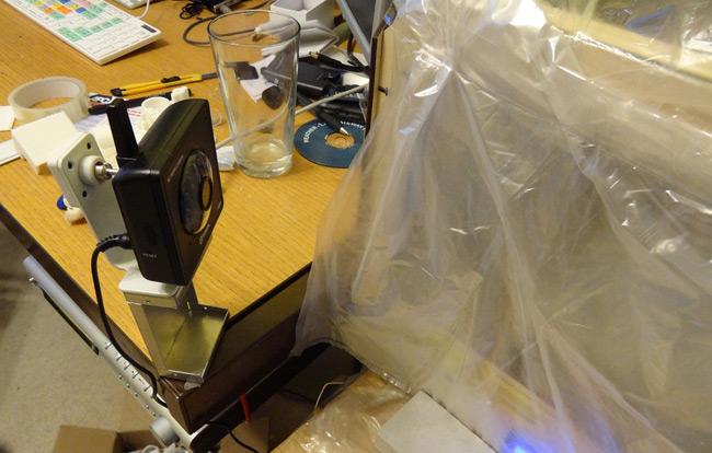 Stuart's webcam monitoring the printer