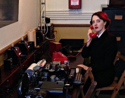 A Wren reenactor at Bletchley
