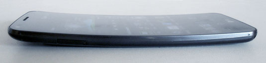 LG D958 G Flex Android handset with Motoroal Moto G