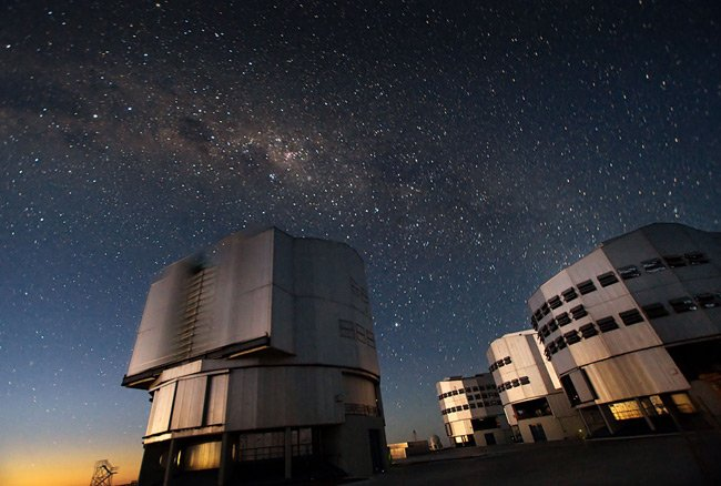 The VLT at Paranal. Pic: ESO