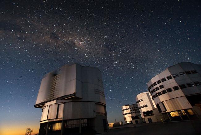 The VLT at Paranal. Pic: ESO