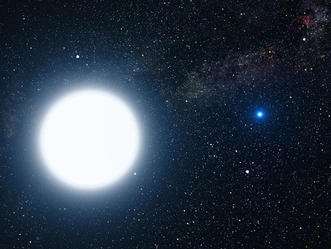 Artist's impression of Sirius A and B
