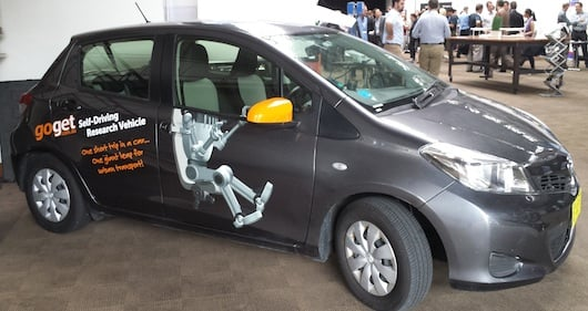 GoGet's autonomous research car Ethel the Yaris