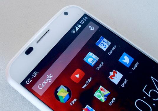 Motorola Moto X top detail