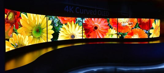 Panasonic's Wave at CES of 55-inch curved TVs