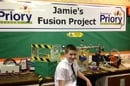 Jamie at his school