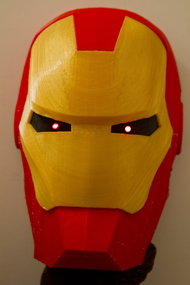 Iron Man mask as produced on the LATHON