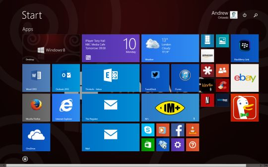 Screenshot of the Windows 8.1 Update 1 desktop