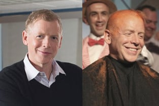 Scott Dietzen before (L) and after (R) shaving his head