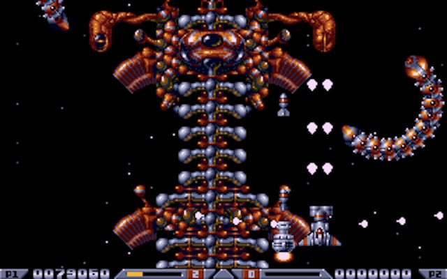 Xenon 2 Atari ST - a forbidable boss in action