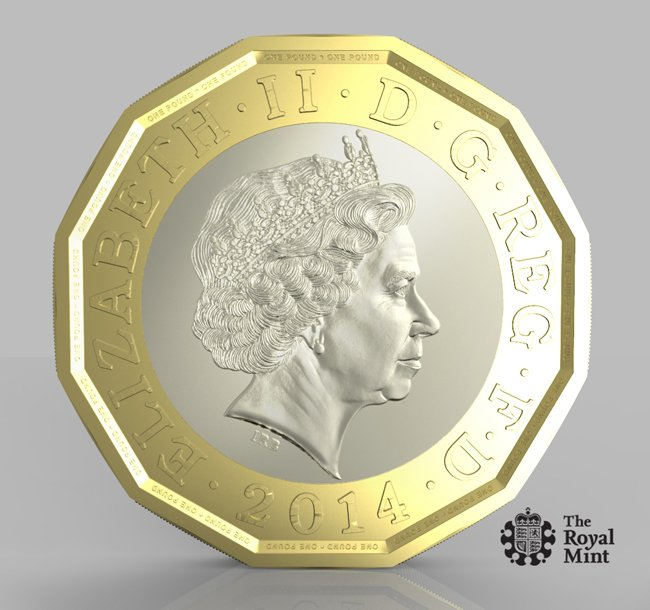 The proposed 12-sided pound coin. Pic: The Royal Mint