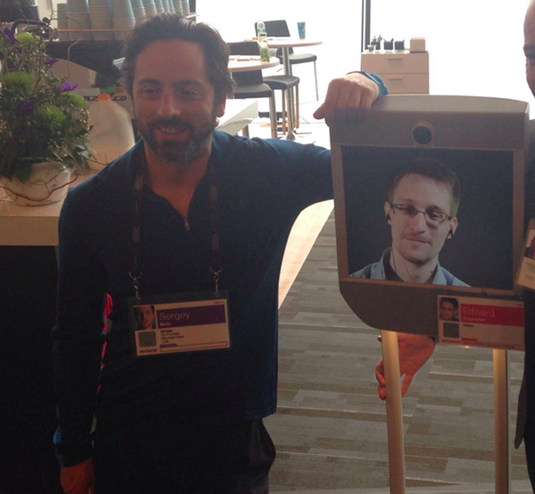 Sergy Brin meets Snowden