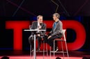 Charlie Rose (L) and Larry Page (R) at TED 2014 in Vancouver
