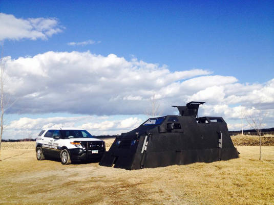 Iowa Storm Chasing Network's 'Dorothy' tornado-chasing vehicle and friend
