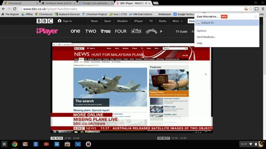 iPlayer Google Cast from Chrome browser