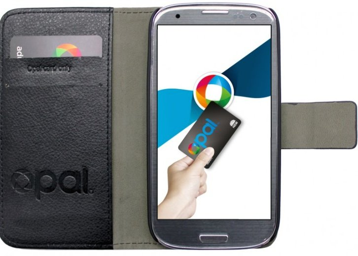 The Opal-card-ready 'flip' cover for Samsung's Galaxy S3
