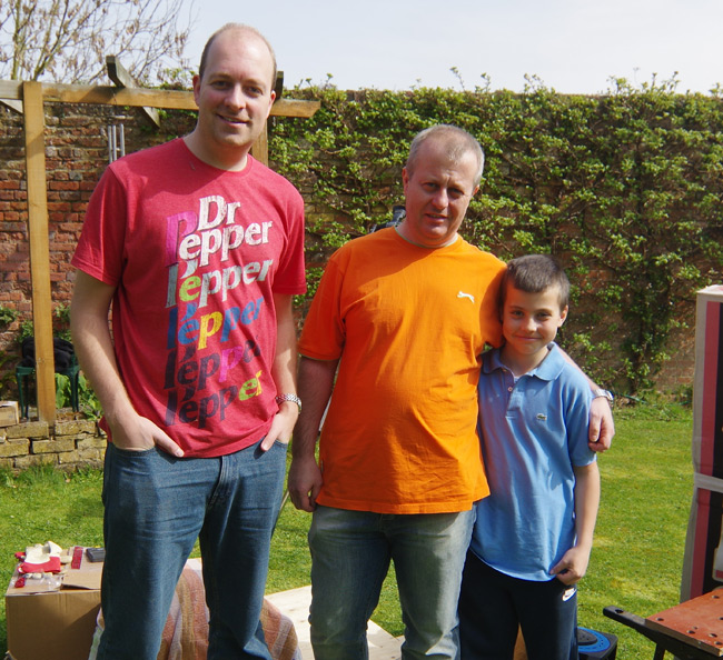 Rob Eastwood, Paul Shackleton and his son Harry