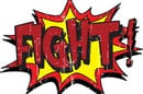 Fight sticker