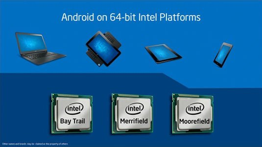Slide from Intel Developer Conference keynote in Shenzhen, China: Android on Intel