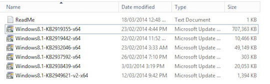 The MSDN download from April 2, 2014. No sign of Windows Server updates