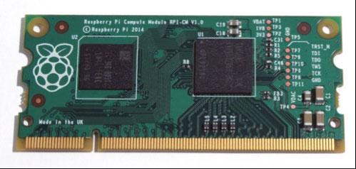 Photo of the Raspberry Pi Compute Module