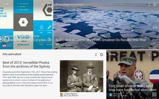 Magazine UI powered by FlipBoard