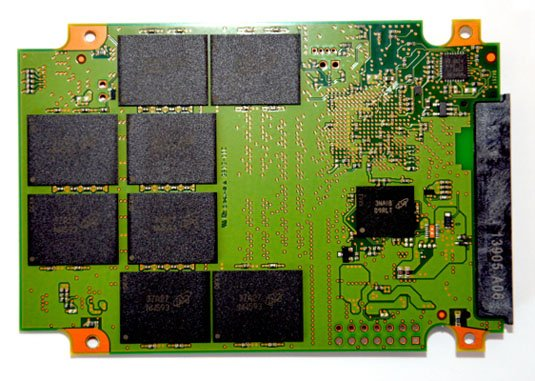 Crucial M550 SSD PCB back