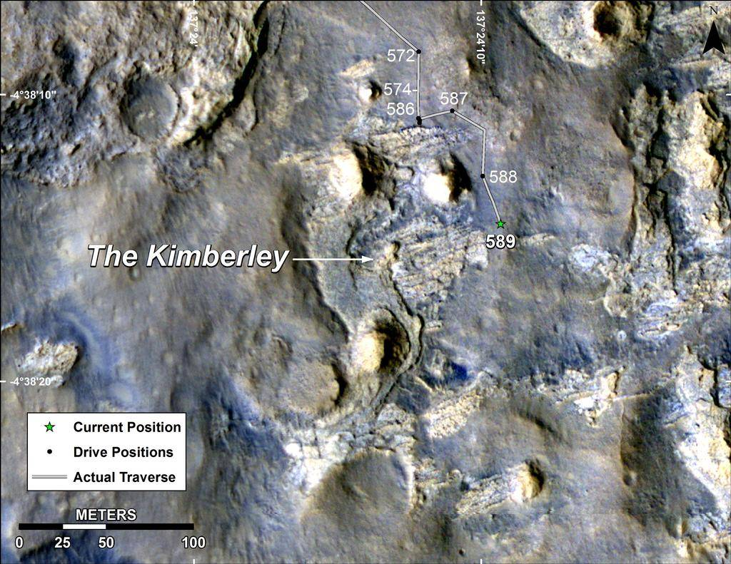 Kimberly outcropping on Mars