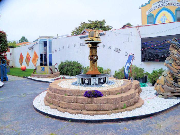 Steve Jobs shrine fountain