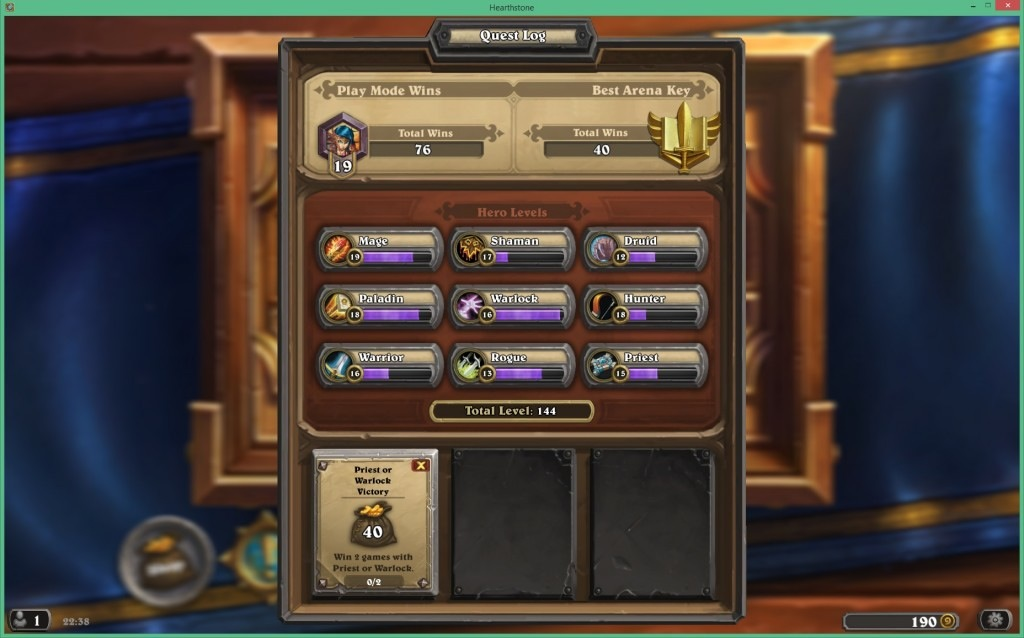 Screenshot from Hearthstone