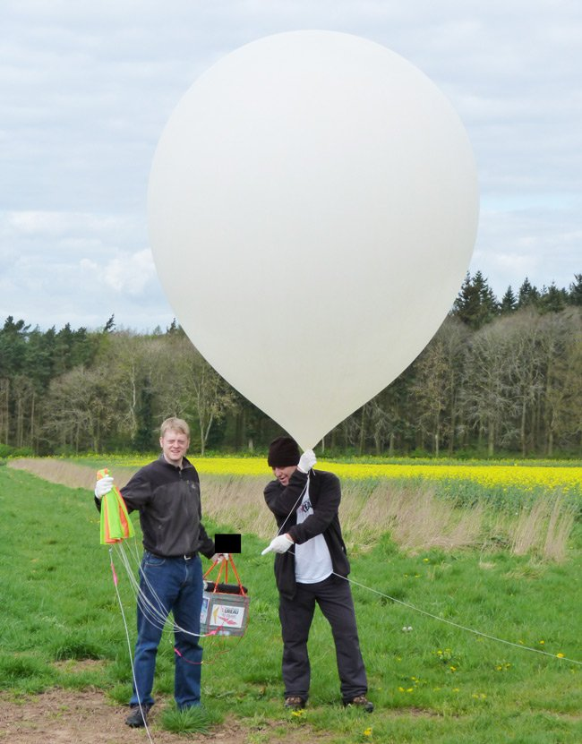 Anthony and Lester with the Judy Payload and balloon
