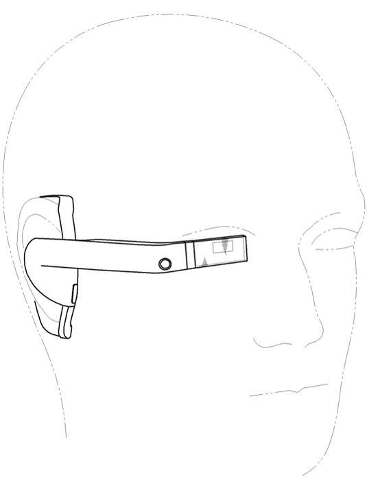Samsung headset patent-application illustration: worn