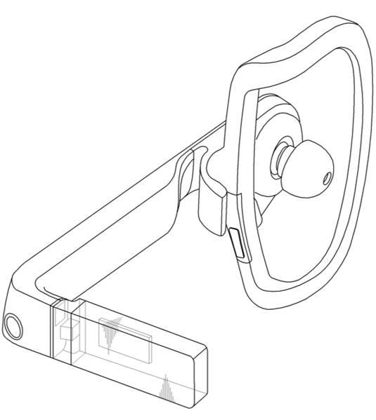 Samsung headset patent-application illustration: three-quarter view