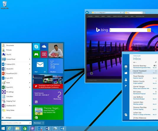 Screenshot of a revamped Windows 8.x Start Menu