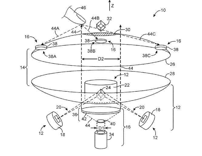 Apple holographic screen diagram