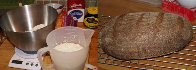 Neil's loaf of sourdough bread