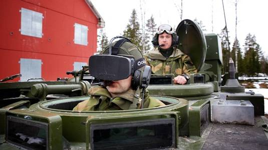 Oculus Rift being tested by the Norwegian army