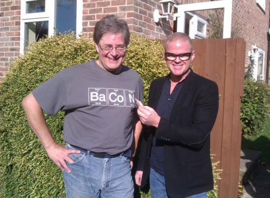 Dave Akerman and Heston Blumenthal