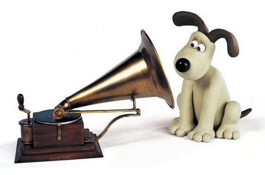 Gromit as HMV dog Little Nipper