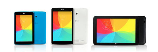 LG Electronics' G Pad 7.0, G Pad 8.0, and G Pad 10.1