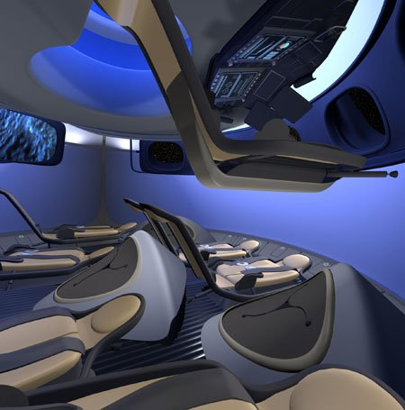 The Boeing CST-100 commercial space capsule concept design