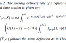 Mathematical formula for base station caching