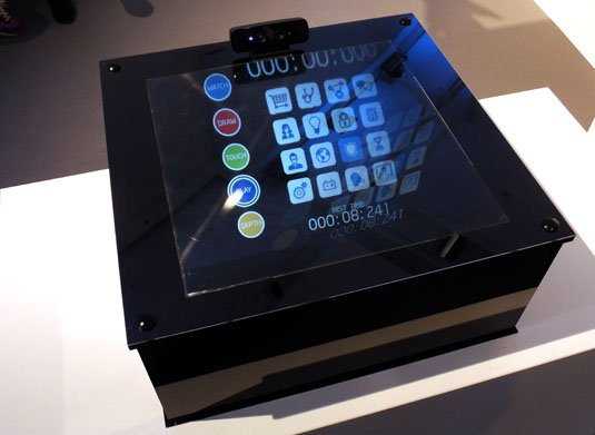 The future of kiosks? Intel RealSense floating display