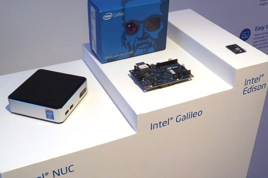 Intel's trio: NUC, Galileo and Edison