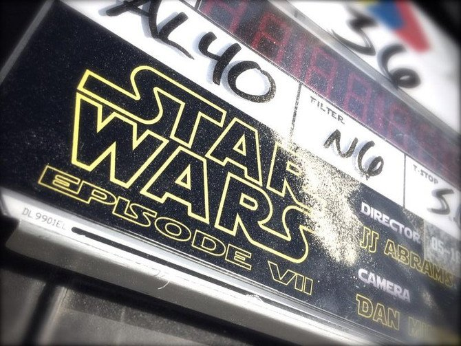 <i>Star Wars</i> clapboard on the first day of shooting