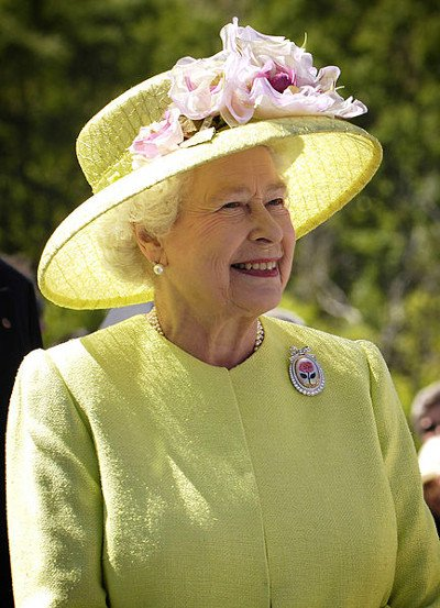 Her Majesty Queen Elizabeth II, aged 81, of the United Kingdom. Photo taken during a visit in NASA's Goddard Space Flight Center. Greenbelt, Maryland, USA