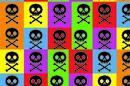 8bit skulls